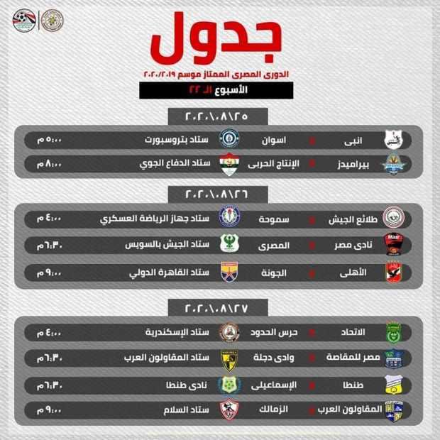 جدول الدوري الممتاز موسم 2019-2020