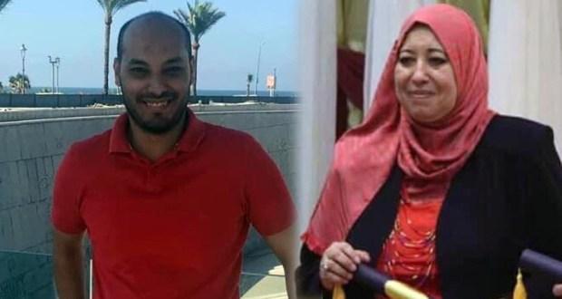 الدكتور محمد حسن ووالدته الدكتورة عزة رشاد