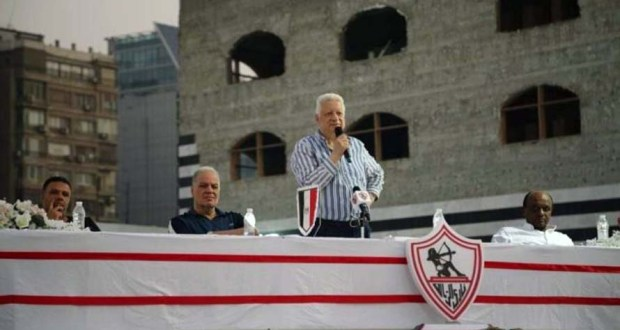 مرتضى منصور رئيس نادي الزمالك فى إجتماع مع أعضاء النادي
