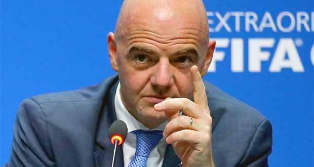 إنفانتينو رئيس الاتحاد الدولي لكرة القدم الفيفا