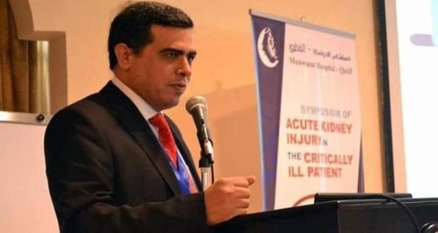 الدكتور مروان عطية أستاذ الباطنة والكلي بكلية الطب بجامعة الزقازيق