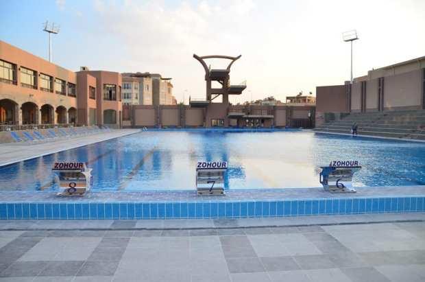 نادي الزهور التجمع الخامس حمام السباحة الاولمبي