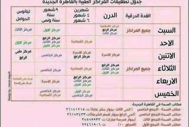 تطعيم الست شهور