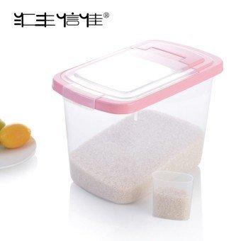 حافظة الأرز والبقوليات شفافة سعة 5 كيلو مع معيار