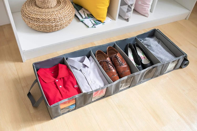 حافظة الملابس المقسمة