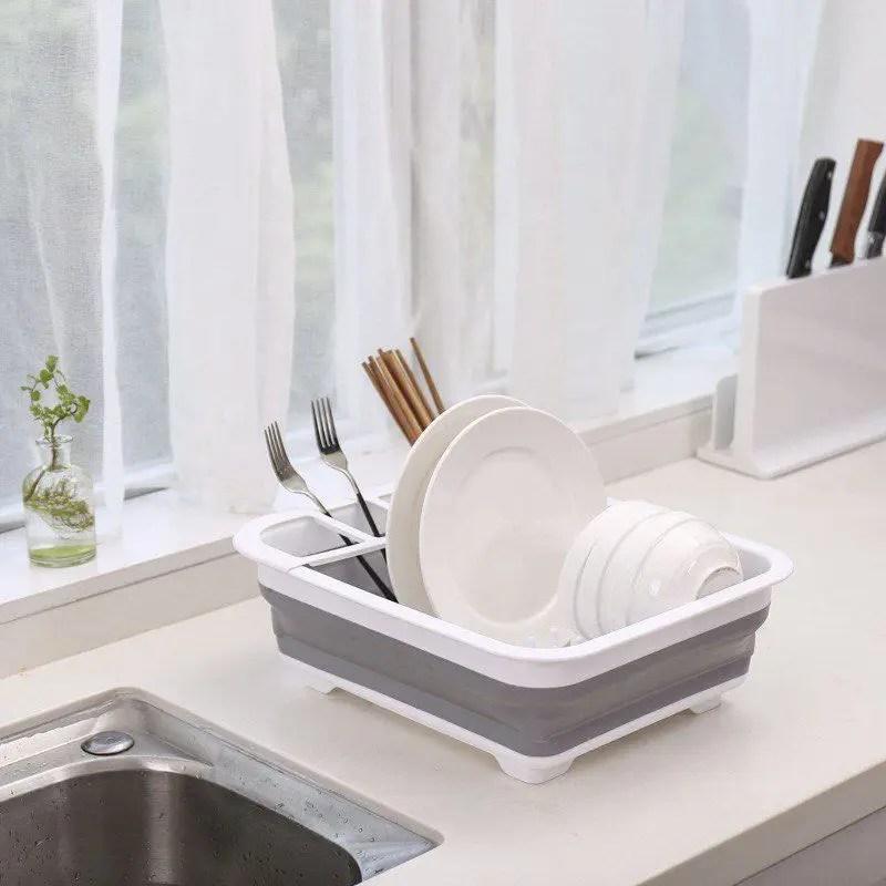 صفاية أطباق سيليكون قابلة للطى
