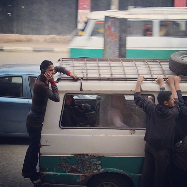 Sometimes there just isn't enough space on the micro-bus. Photo by @kareem_1911