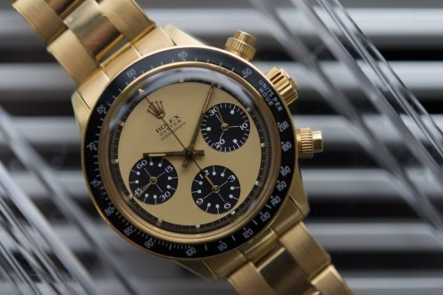 """This gold Daytona, known as """"The Legend"""" sold for $3,717,906"""