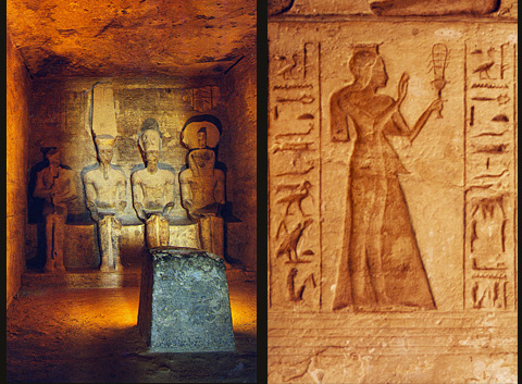 Inside the Rameses and Hathor Temples