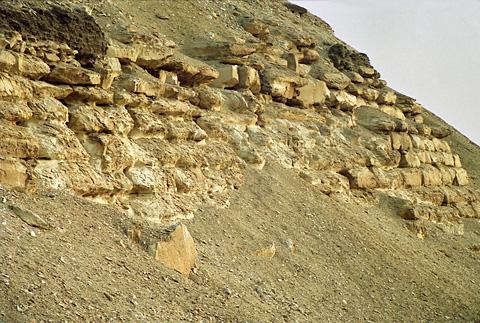 Casing stones on Amenemhet's Pyramid