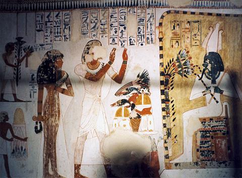 Menna & Henuttawy before Osiris