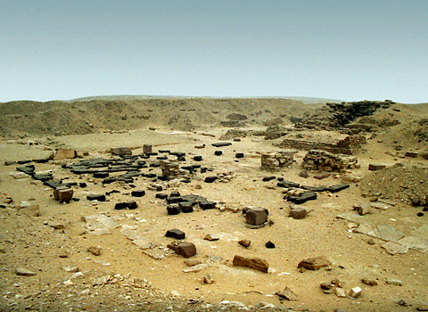 Remains of Userkaf's mortuary temple