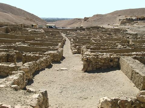 Wide central street at Deir el-Medina