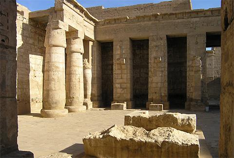 Temple of Rameses III at Medinet Habu