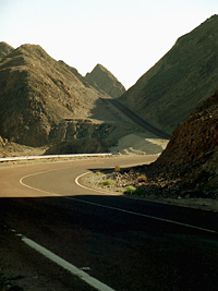 The road to Nuwieba