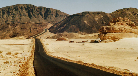 The road to St Catherine's Monastery