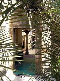 Entrance to the mosque of al-Ahmar