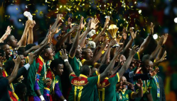Cameroon celebrating their victory and the African cup of nations 2017 Youm7