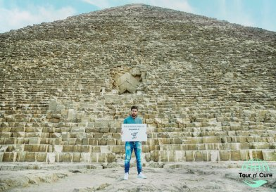 Lionel Messi at the Giza Pyramids of Egypt 2017, to support the Tour n Cure program for health treatment in Egypt