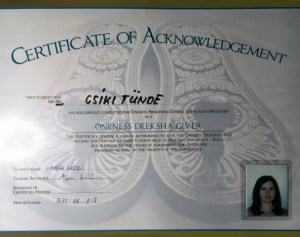 Certificate Oneness Deeksha Giver
