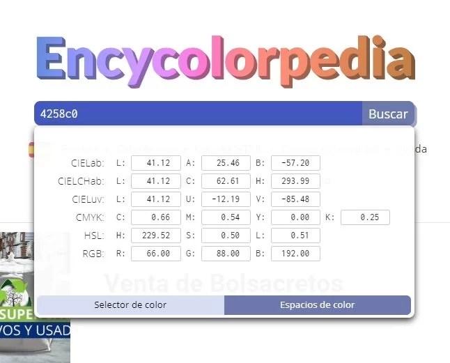 Encyclopedia traduce en múltiples formatos los colores