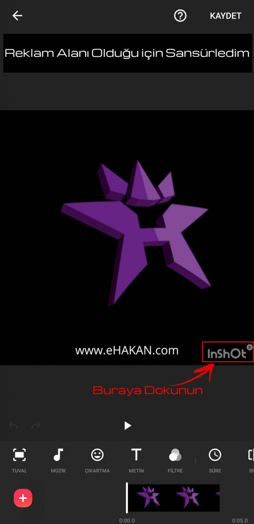 Ok ile gösterdiğim yerdeki logoya dokunun.