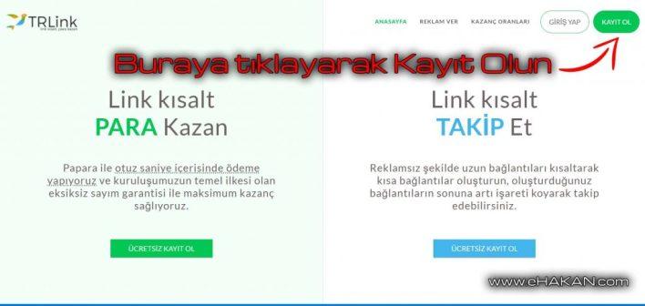 Tr.Link ile link kısalt para kazan.