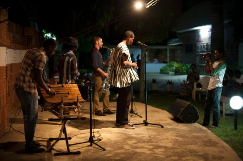 Nana Asaase performing at Ehalakasa Talk Party