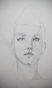 Drawing is my first love, but I rarely get a chance to practice traditional art these days. Here's a 2-minute sketch that looks more like a 30 second one.