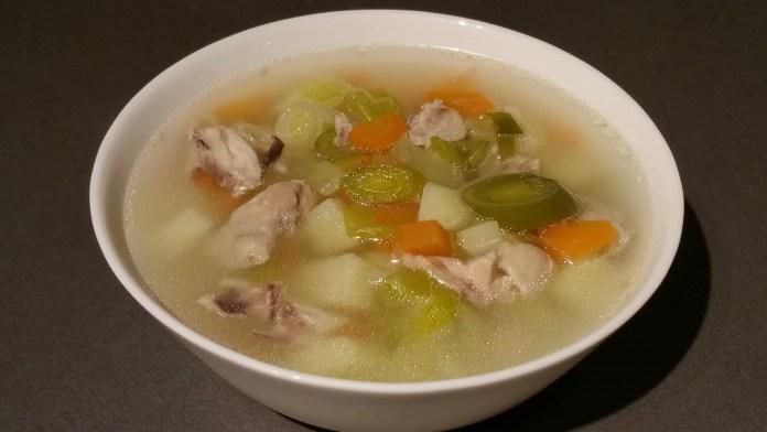 Суп с луком-пореем_
