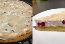 Ягодный пирог с безе _