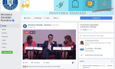Ministerul Sănătății live pe Facebook