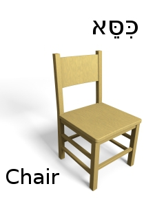 How to say chair in Hebrew