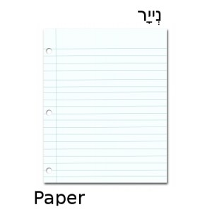 How to Say Paper in Hebrew