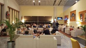 Executive lounge at the V C Bird Terminal