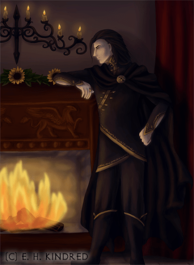 Lask Brooding By The Fire