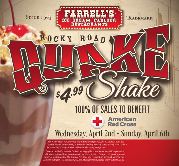 Quake Shake Farrell's Brea