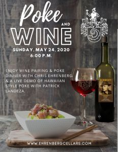 Poke and wine poster