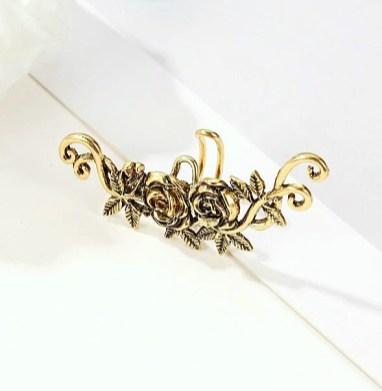 Roosidega earcuff kuldne