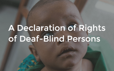 A Declaration of Rights of Deaf-Blind Persons