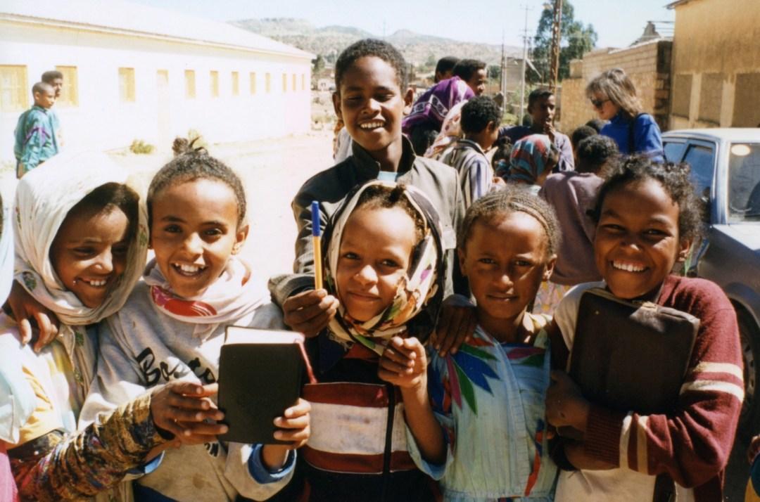 Children outside an orphanage - Asmara, Eritrea