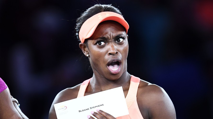 Image result for sloane stephens face check