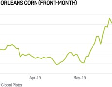Corn prices settle at 5-year high as flooding leaves U.S. plantings way behind