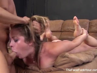 Teen Whore deepthroats his hard cock