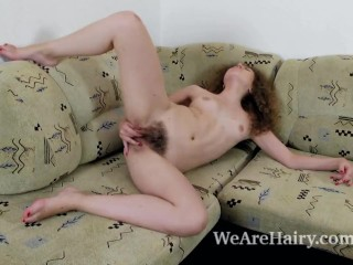 Viola R strips and masturbates on her couch