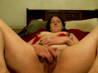 Nipple clamps and ruined orgasm teaser
