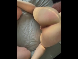 Eva Alexia's tight pussy gets ruined by daddy