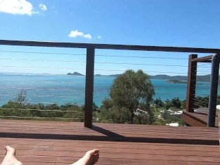 Aussie girl gets fucked before breakfast with an epic ocean view