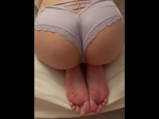 German Girl shows of her soles and hot legs