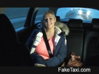 Blonde with huge tits pays her debt